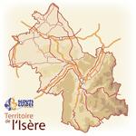 Carte du territoire Scouts et Guides de France de l'Isère
